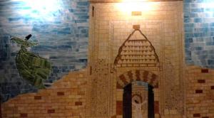 tile art depicting the journey of the Dervish